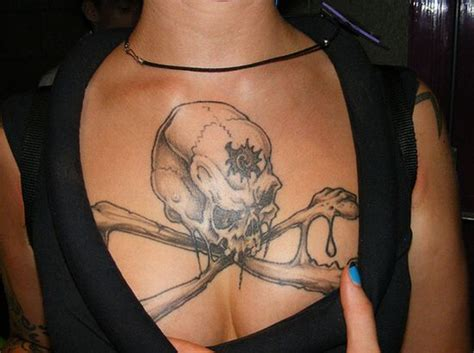 girl chest tattoos chest tattoos for gallery