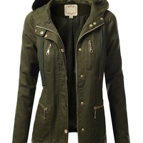 Dc Parka Canvas Light Army Dina Fashion j tomson womens trendy cotton from my