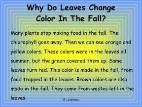 why do leaves change color in autumn seasons and weather