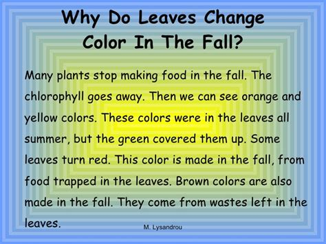 autumn leaves and fall colors why do autumn leaves html
