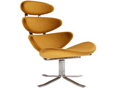 famous designer chairs corona chair and ottoman by poul volther