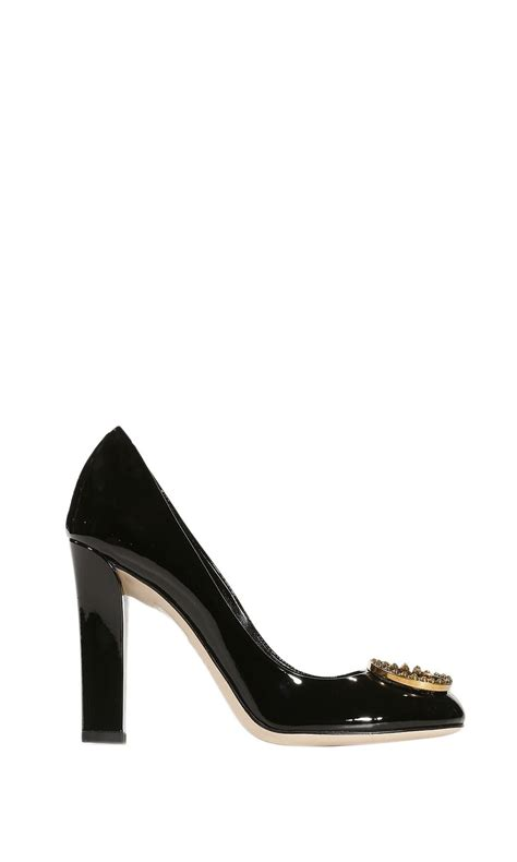 gucci shoes new interlocking heels 11 patent leather gg meta in black lyst