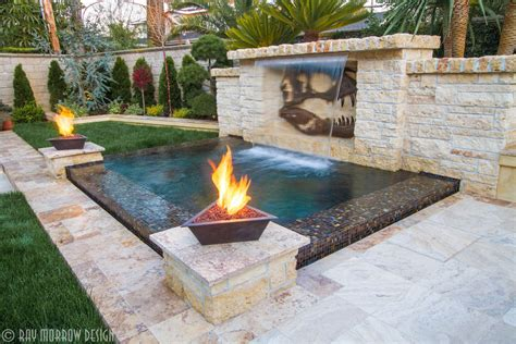 pool fire pit fireplaces fire features ray morrow design