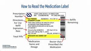 how to read a medication label youtube