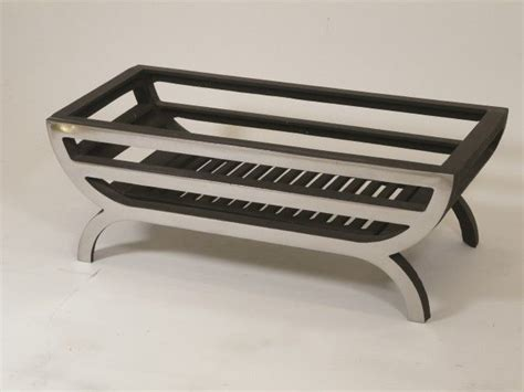 Wood Fireplace Grates by 16 Quot Cradle Basket Grate Polished Solid Fuel Wood