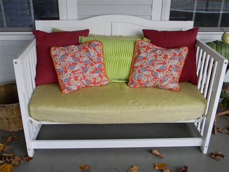 Turn Into Outdoor Furniture by Baby Crib Turned Front Porch Daybed