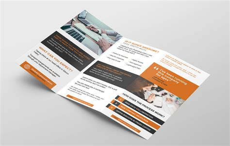 Free 3 Fold Brochure Template For Photoshop Illustrator 3 Fold Brochure Template Free