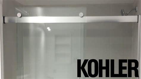 kohler levityr     glass bathtub door unboxing   sh youtube