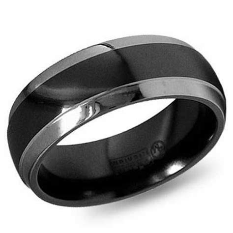 mens black platinum wedding bands platinum wedding band
