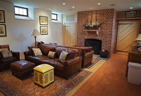 family room leather sofa ideas basement family room decorating ideas with brown leather