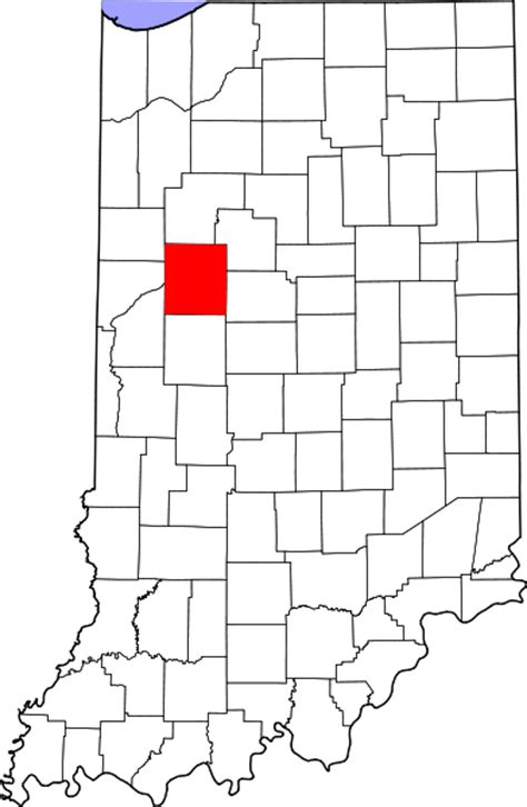 Tippecanoe County Search File Map Of Indiana Highlighting Tippecanoe County Svg Facts For Kidzsearch