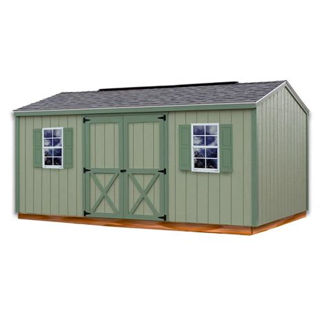 10 X 16 Wood Shed Kit With Floor - best barns cypress 16 ft x 10 ft wood storage shed kit