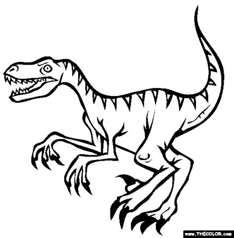 coloring pages velociraptor free coloring pages of velociraptor dinosaur