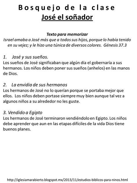 predicaciones para ninos cristianos iglesia mar abierto estudio b 237 blico para ni 241 os jos 233 el