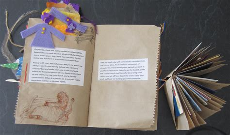 How To Make A Paper Bag Book - continuing with brown paper bag book randomrose