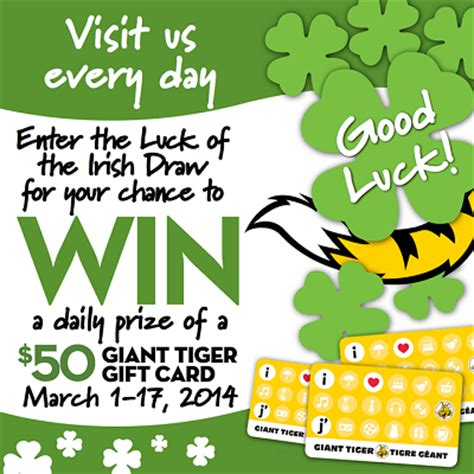 Giants Gift Cards - enter to win 50 giant tiger gift card
