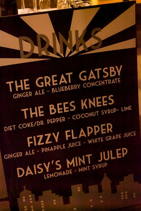 great gatsby dinner menu pin by kristen canady on
