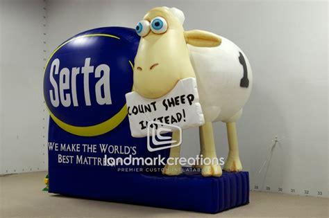 Mattress Brand With Sheep by Serta Mattress Mattress Counting Sheep Mascot Billboard