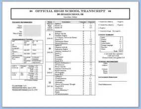 free college transcript template sle high school transcript template