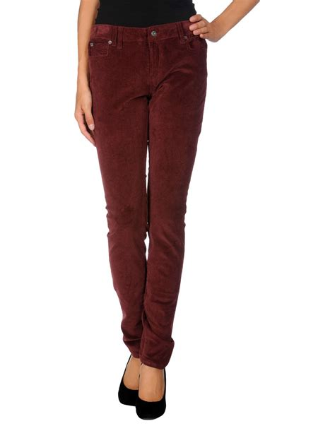 bench pants bench casual trouser in purple lyst