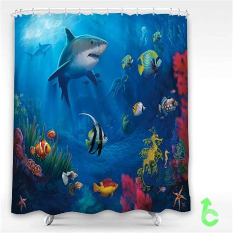 underwater shower curtain 17 best images about shower curtain by customsbay com on