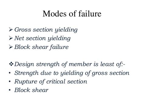 form design of welded members design of tension members