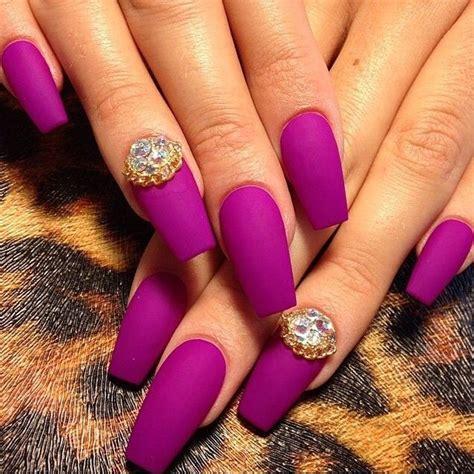 matte purple nail matte purple coffin nails house stuff