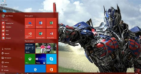 themes for windows 7 transformers free download transformer of age theme for windows 8 8 1 and 10 save