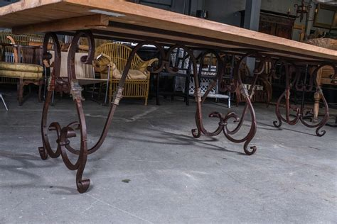 Wrought Iron Outdoor Dining Table Baroque Style Indoor Outdoor Wrought Iron Dining Table At 1stdibs