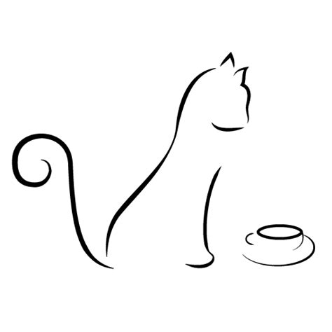 cat tattoo line drawing awesome cat line drawings pinterest kitty cafe