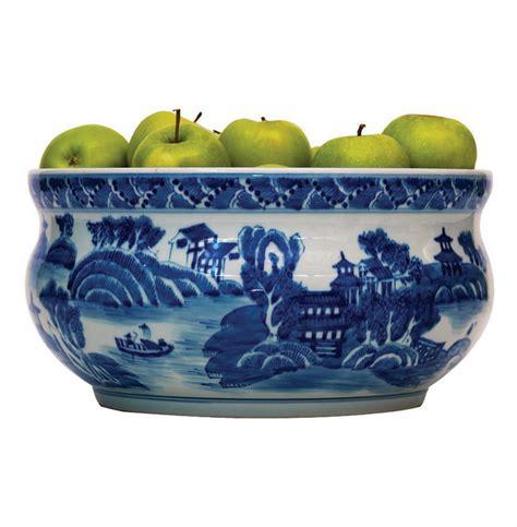 white fruit bowl summer palace chinese hand painted blue white basin fruit bowl