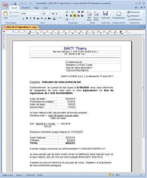Exemple De Lettre Loyer Impayé Pdf Lettre Type Paiement Loyer