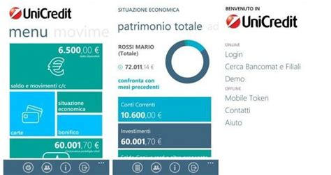 unicreditbanca mobile mobile banking unicredit arriva su windows phone