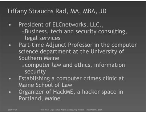 Of Portland Part Time Mba by Blackhat Usa 2009 Your Mind Status Rights And