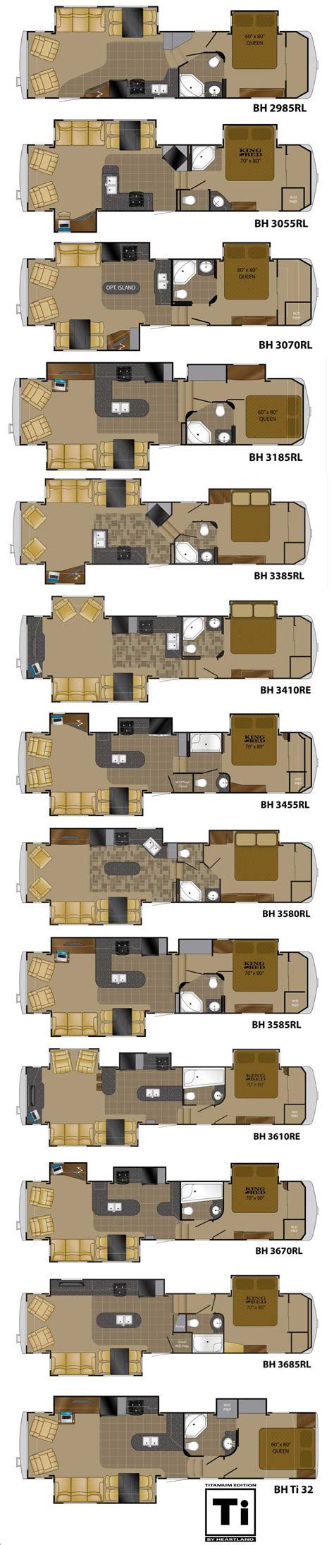 heartland 5th wheel floor plans heartland bighorn fifth wheel floorplans large picture