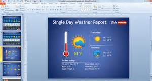 Kids Weather Report Template free weather forecast powerpoint template free