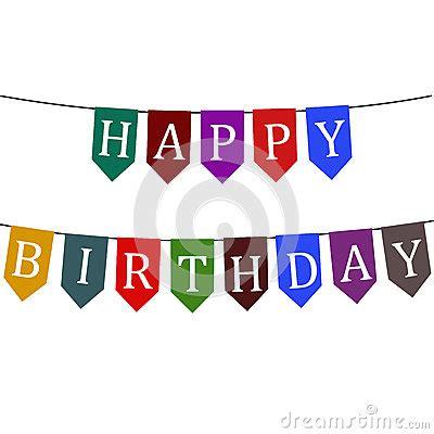 Bunting Flag Happy Anniversary White flags happy birthday royalty free stock