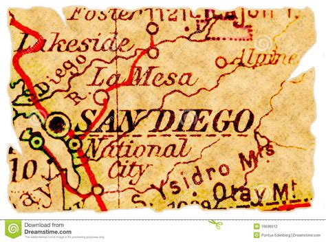 Of California In San Diego Part Time Mba by San Diego Map Stock Photography Image 16696512