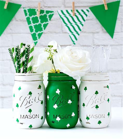 st patricks day crafts recipes  mason jars mason