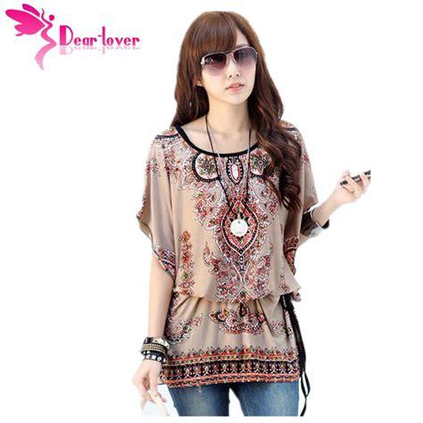 aliexpress buy dear lover autumn 2016 chiffon floral print bohemian style print blouses ol