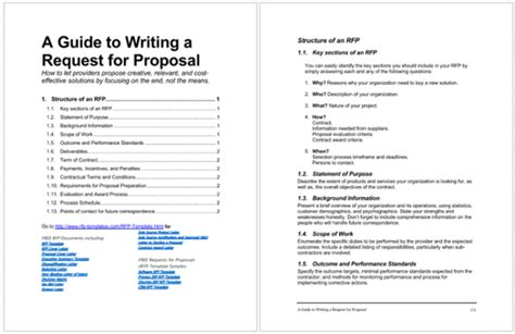 4 Rfp Templates To Write A Great Request For Proposal Writing An Rfp Template