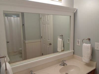 how to frame a bathroom mirror with crown molding 25 best ideas about frame bathroom mirrors on pinterest