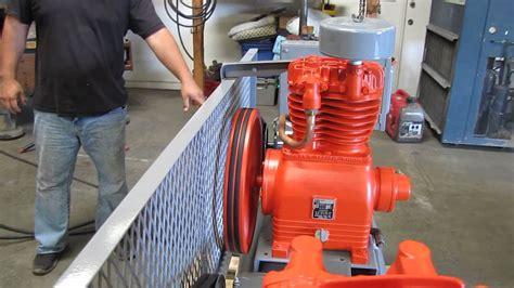 devilbiss dual head air compressor hp   gallon tank youtube