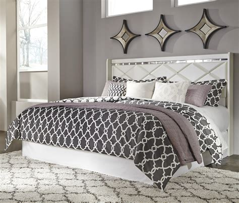 headboard with crystals signature design by ashley dreamur b351 58 king california