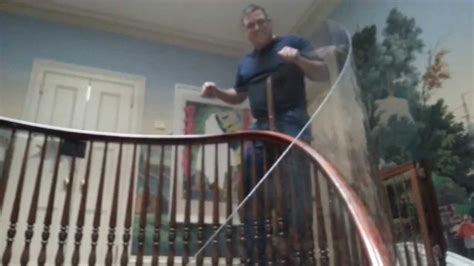 banister guard baby proofing with plexi glass long island ny youtube