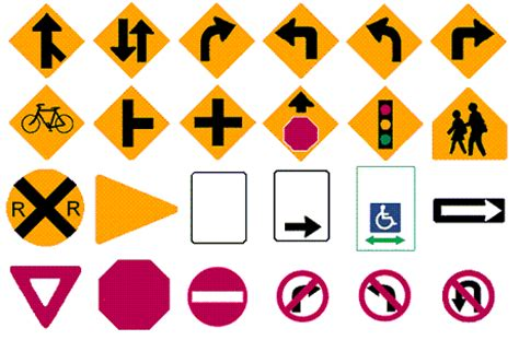 printable nc dmv road signs nc dmv road signs chart