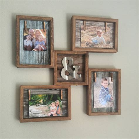 rustic home decor reclaimed wood photo collage with mini