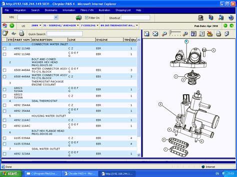 auto manual repair 1997 dodge stratus spare parts catalogs chrysler international pais4 spare parts catalog