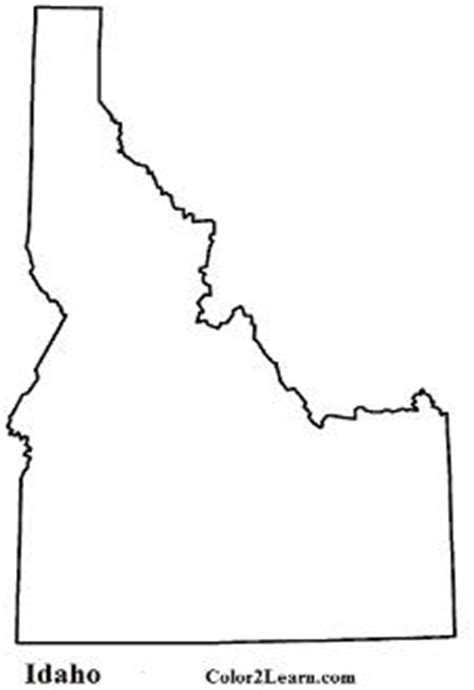 Idaho State Flag And Map Coloring Pages Idaho State Flag Coloring Page