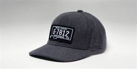 vintage license plate hats cool material